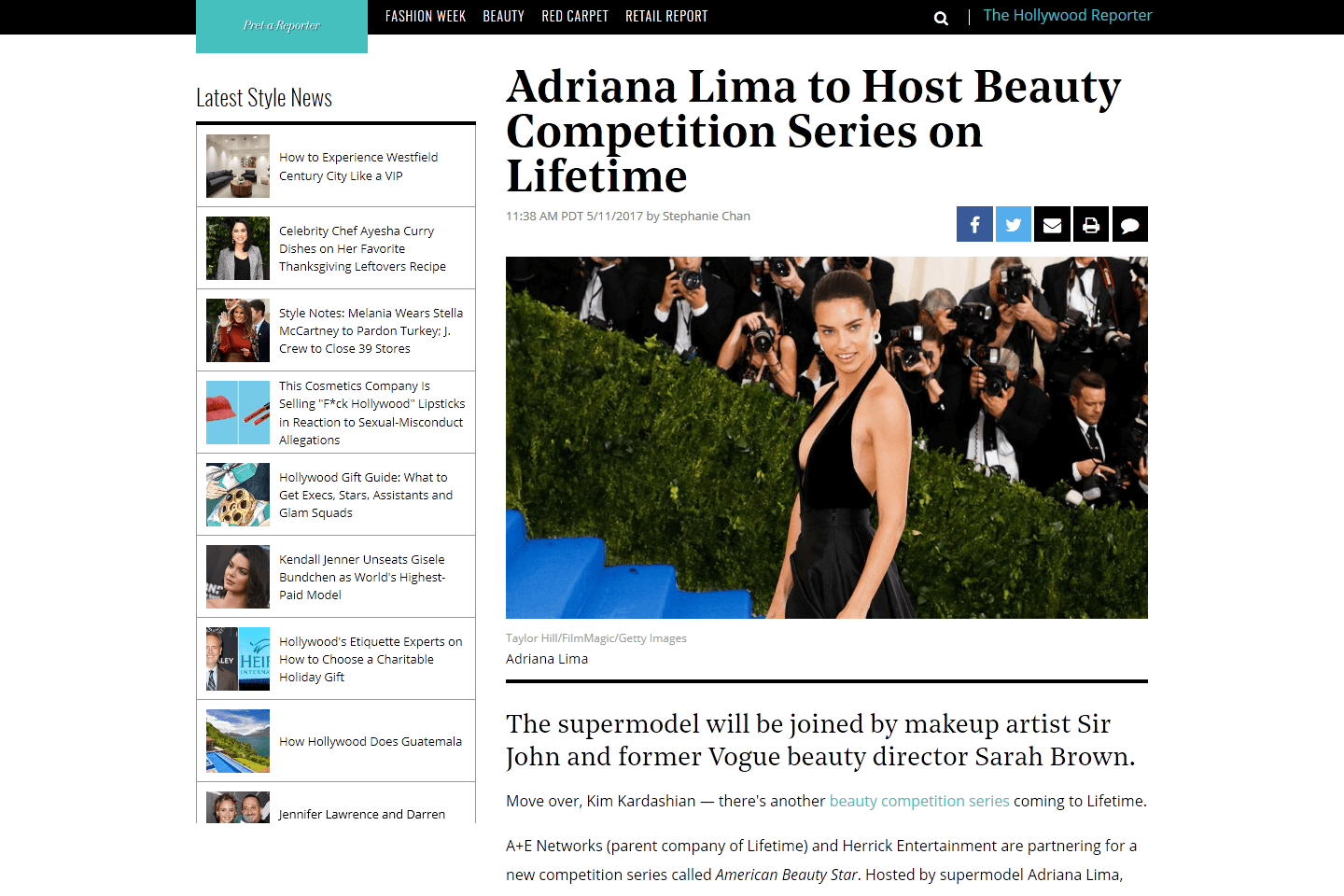 Adriana Lima Has A New TV Series