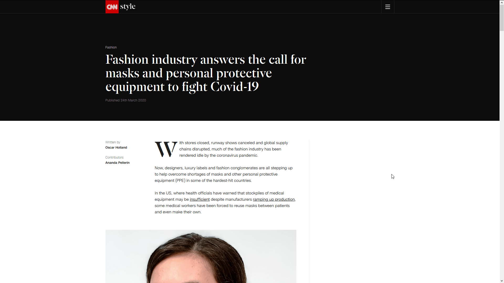 Fashion industry answers the call for masks and personal protective equipment to fight Covid-19